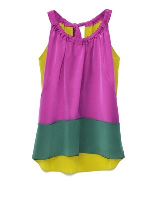 Marni for H&M silk blouse: bright colors, color blocking