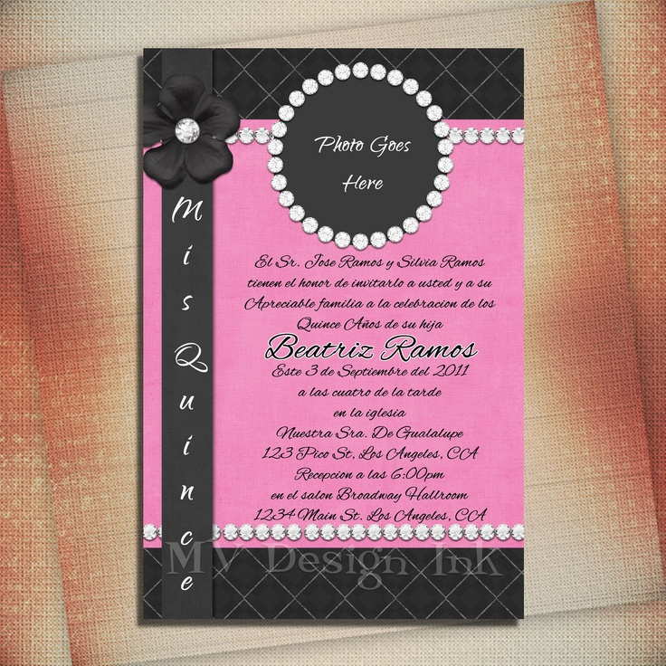 34 best Invitations images on Pinterest | Cards, Decorations and ...