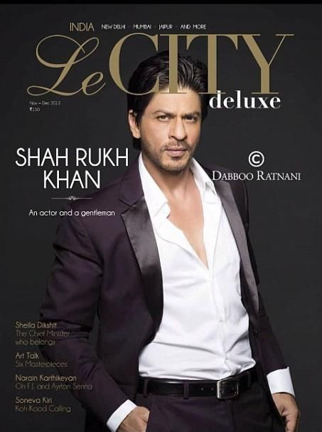 Shah Rukh Khan on the cover of Le City Delux India December 2012