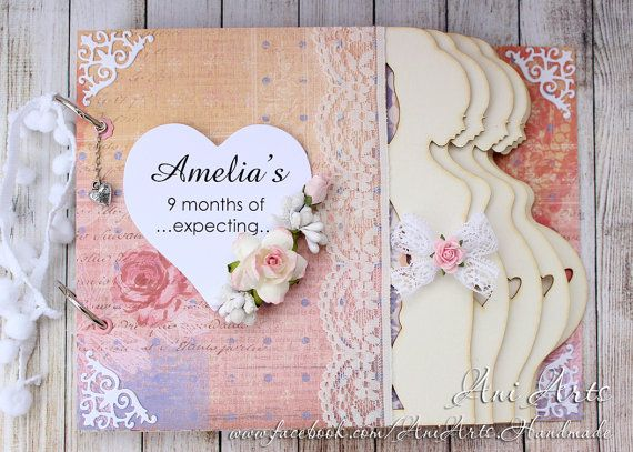 Personalized Pregnancy Journal Pregnancy Keepsake Album Expecting Mom Gift Mom to Be Memory Book Pregnancy Scrapbook Album
