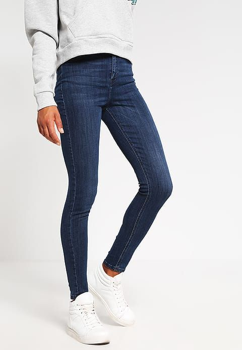 Topshop JAMIE - Jeans Skinny Fit - blue/stone blue denim za 229 zł (08.01.17) zamów bezpłatnie na Zalando.pl.