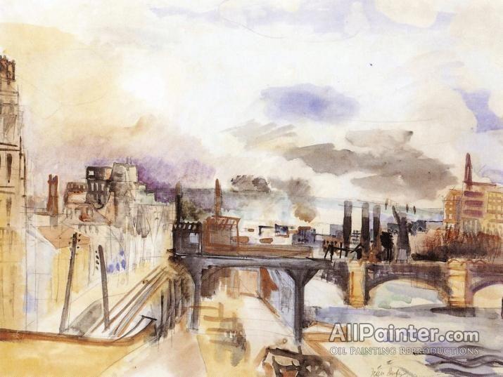 Raoul Dufy,Parisian Bridge oil painting reproductions for sale