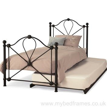 Lyon black metal guest bed - #bedroomdesign