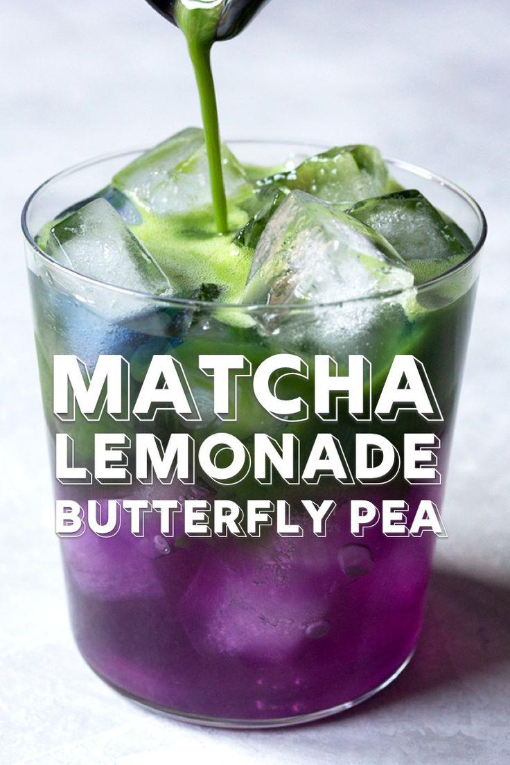 Butterfly pea flower matcha lemonade recipe matcha