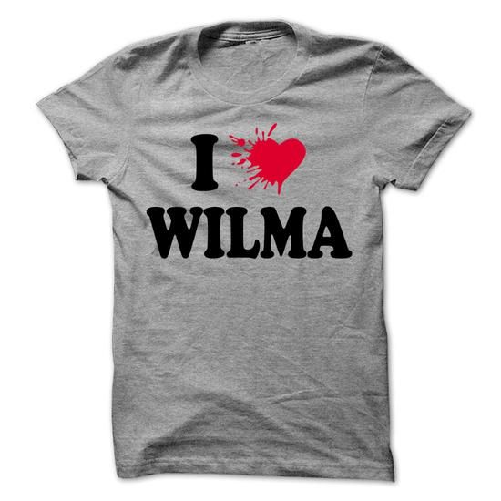 I love WILMA - 99 Cool Name Shirt ! - #bachelorette shirt #funny hoodie. LOWEST SHIPPING:  => https://www.sunfrog.com/LifeStyle/I-love-WILMA--99-Cool-Name-Shirt-.html?60505