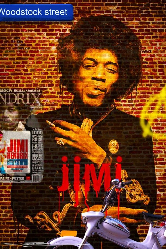 'Jimi on the Wall' - #TonnyBaars #JimmyHendrix - Now in the #Expooze store - order in #LiquidGloss!