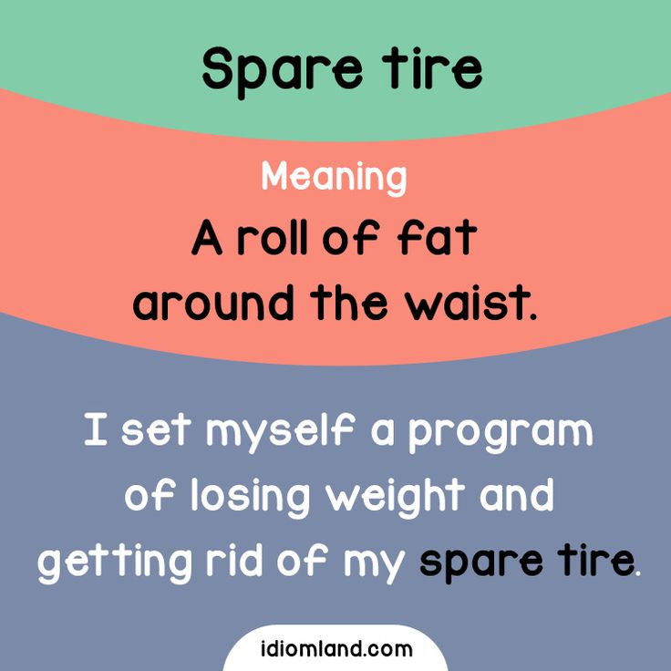 Do you have a spare tire?  #idioms #english #learnenglish #englishidioms