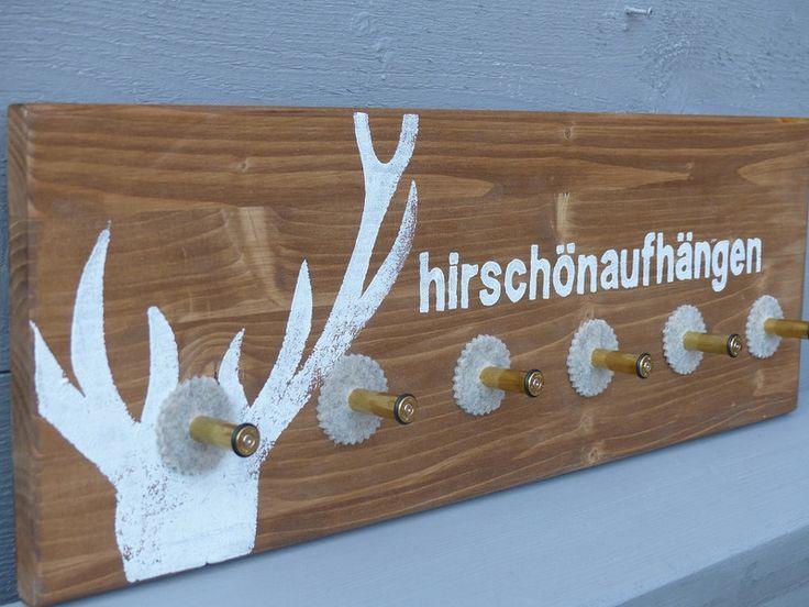 Geweihe & Trophäen – Kleine Garderobe MUNITION, Nußbaum – ein Designerstück von raumfreunde bei DaWanda