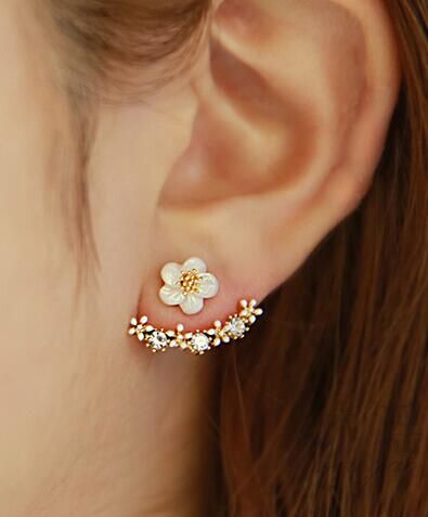 cute flower stud earrings                                                                                                                                                                                 More