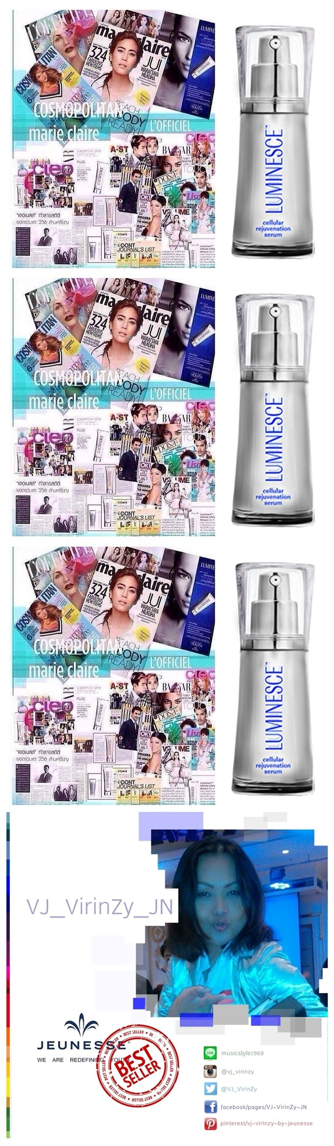 LUMINESCE CELLULAR REJUVENATION SERUM Growth factors are more than 200 types of collagen, elastin ... Skin softening fine lines and wrinkles to fade ... to rejuvenate //www.joybanfield.jeunesseglobal.com