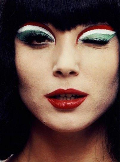 Make up marcato per tifare l'Italia