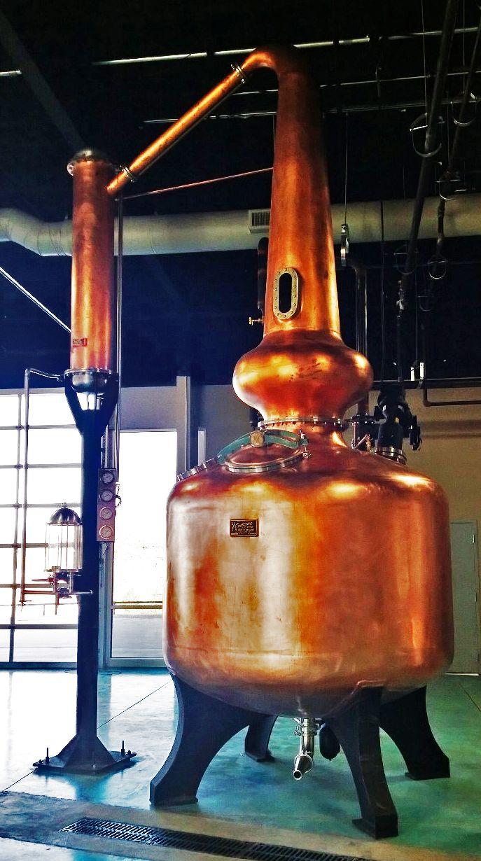 Copper Pot Still at Ironroot Republic Distilling in Denison, Texas. #Vendome #Copper #Texas
