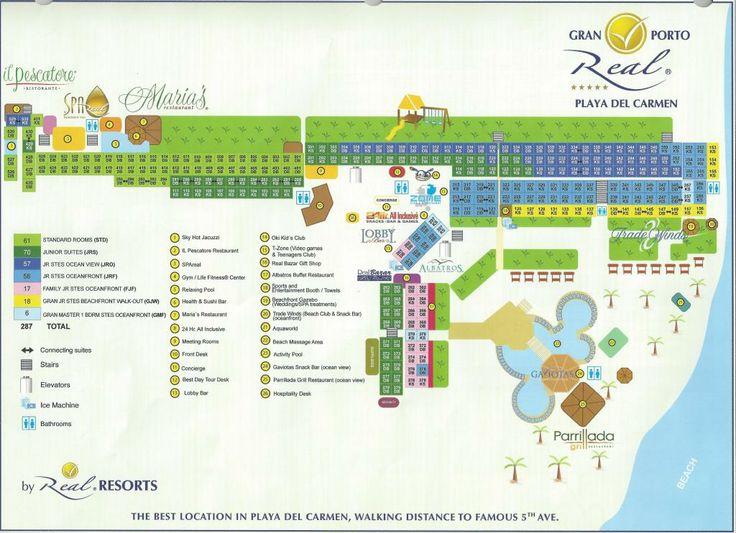 resort map gran porto real playa del carmen pinterest resorts and gran porto real. Black Bedroom Furniture Sets. Home Design Ideas