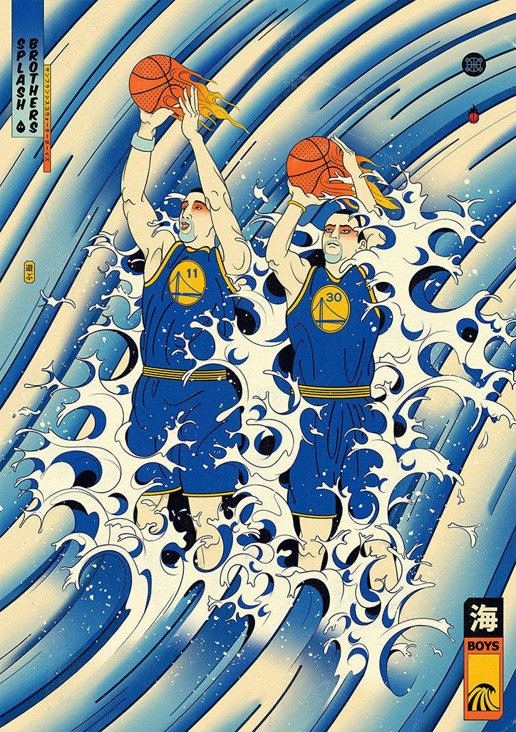 Art, Asia and basketball: illustrator Andrew Archer's series Edo-Ball