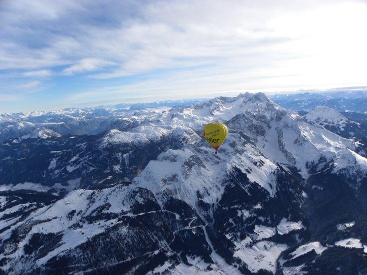 V balónu nad Alpami