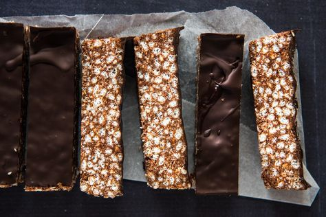Quick and Easy Chocolate Crackle Slice. Simple, delicious and free from gluten, dairy, egg and refined sugar. Enjoy.