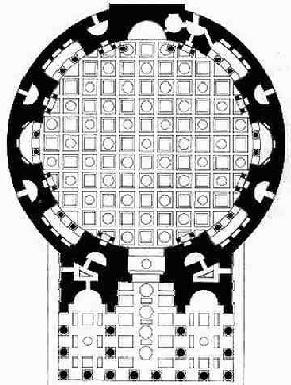 Pantheon Plan Rome. #Architecture #Circle