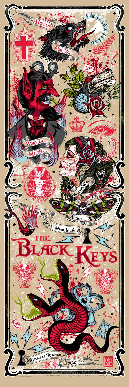 Poster design key - Inside The Rock Poster Frame Blog Rhys Cooper The Black Keys Variant Posters On Sale