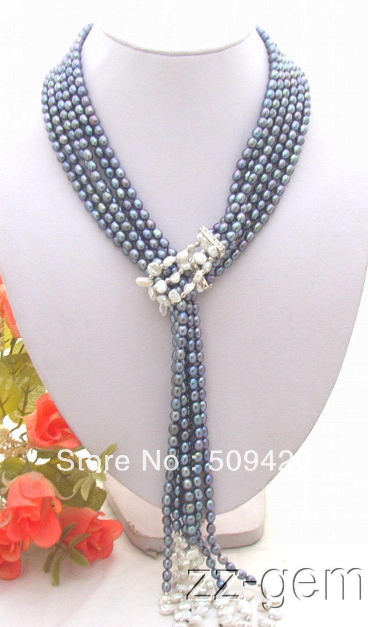 >>> N0612013 белый возрождается кеши жемчуг и черный жемчуг NecklaceN0612013 белый возрождается кеши жемчуг и черный жемчуг ожерелье