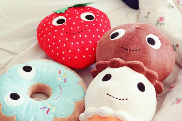 Kawaii ;-) Donut, fraise et glace en peluche !