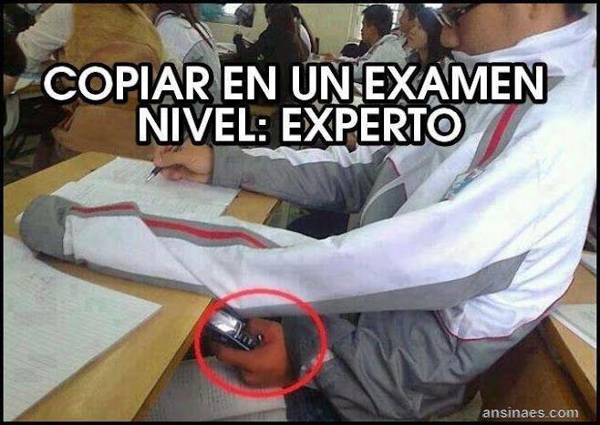 Foto Chistosa - Copiar en un Examen nivel : Experto
