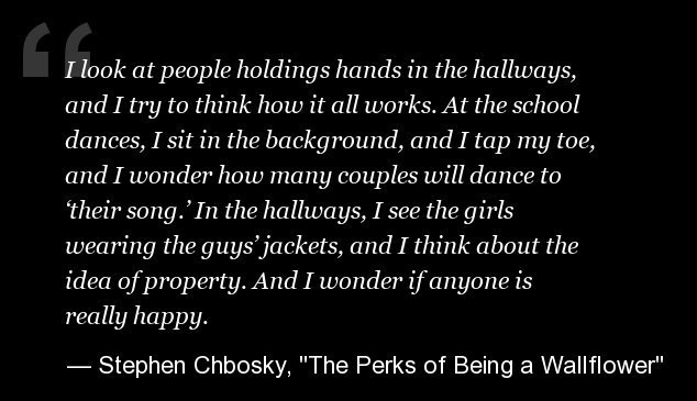 'The Perks of Being a Wallflower' Quotes: Life Lessons From Stephen Chbosky's Novel