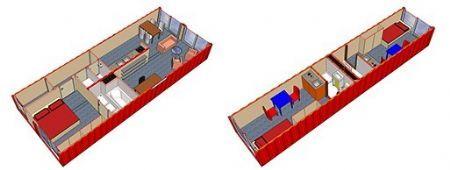 Lego voor grote jongens: wonen in scheepscontainers