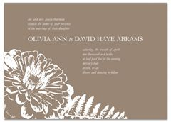 Brown White Botanical Wedding Invitation Example - but maybe with a protea ???