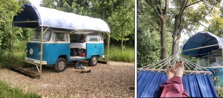 Guilden Gate glamping, VW camper van, glamping hertfordshire