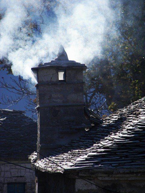 Smoking chimney, Kalarrites village, Tzoumerka, Epiros, Greece Photo from Kalarites in Ioannina | Greece.com