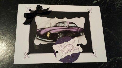 1959 Karmann Ghia - birthday card