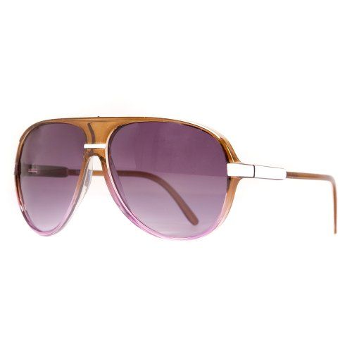 Transparent Coloured Aviator Sunglasses with Bridge Detail Available in a Selection of Colours