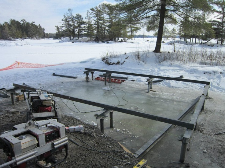 boat house build on Stoney Lake by Integrity