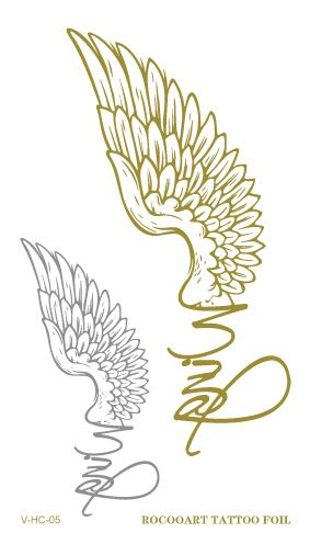VHC05 2015 New Waterproof Tattoo Golden Gold English Eagle Wings Fake Glitter Metallic Temporary Tattoo Stickers for Womens-in Temporary Tattoos from Health & Beauty on Aliexpress.com | Alibaba Group