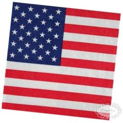 US servietter - Amerikansk US tema borddækning - amerikansk flag paptallerken, papkrus, servietter med det amerikanske flag - 4th of july fest bordpynt