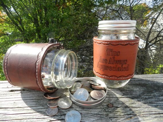 Wait Staff Tip Jar Custom Quotes  Mason Jar Personalized