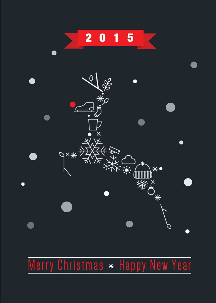 50 Christmas Designs To Inspire Your 2015 Holiday Message – Design School                                                                                                                                                                                 More
