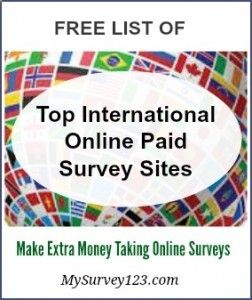 This is a list of global survey panels that accept members worldwide.Make extra money online taking legit paid surveys! mysurvey123.com