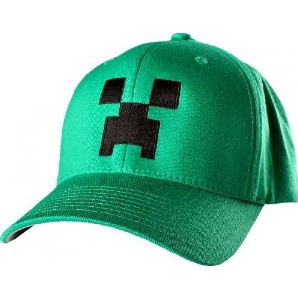 Minecraft cap kasket med flot Creeper motiv og i kraftig kvalitet