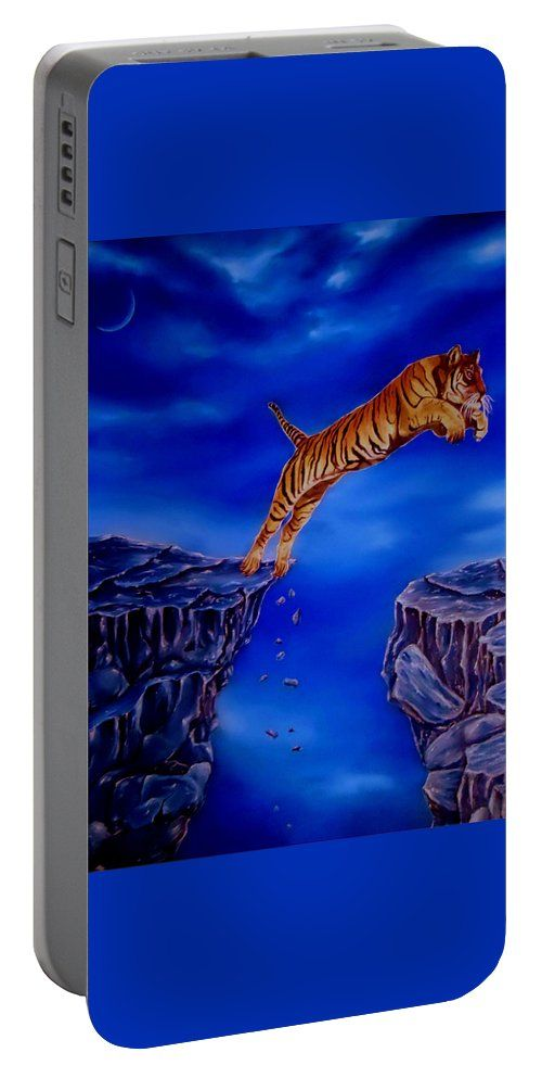 Portable Battery Charger,  blue,cool,beautiful,fancy,unique,trendy,artistic,awesome,fahionable,unusual,accessories,for,sale,design,items,products,gifts,presents,ideas,tiger,wildlife