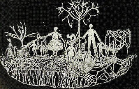 The Textile Blog. Margarete Naumann lace. Circa 1914