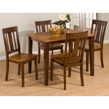 Jofran Kura Canyon 5 Piece Small Dining Table Set