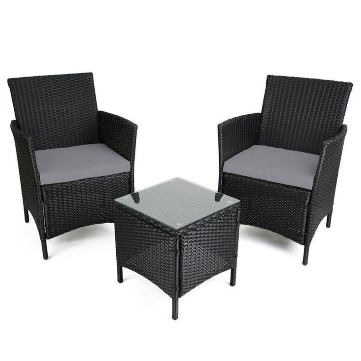 garden rattan set table chairs with cushions patio outdoor seats furniture new - Rattan Garden Furniture Tesco