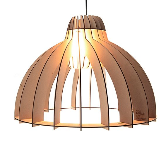 Classic design with a modern twist. That's how we look at this Granny Smith pendant lamp. Made out of MDF and 100% Dutch Design.
