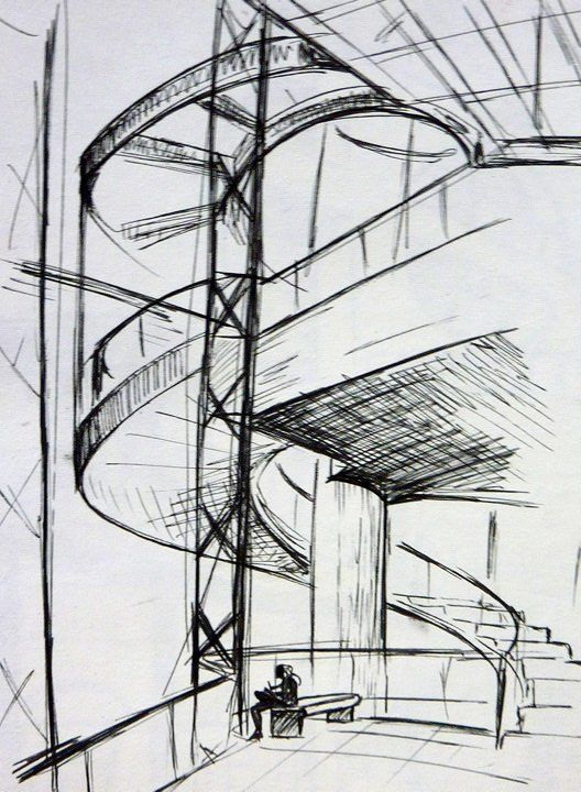 Architecture Sketch 2 By EleoATMdeviantart