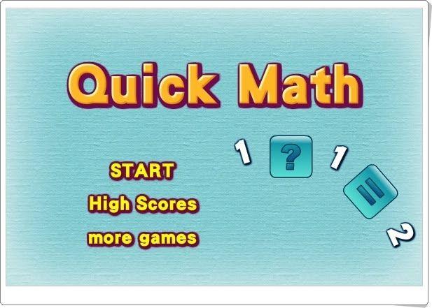 """""""Quick Math"""" (Juego de cálculo mental de 4º de Primaria)"""
