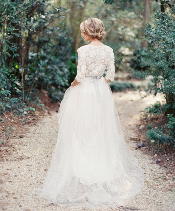 Beautiful wedding dress - Vintage - Lace