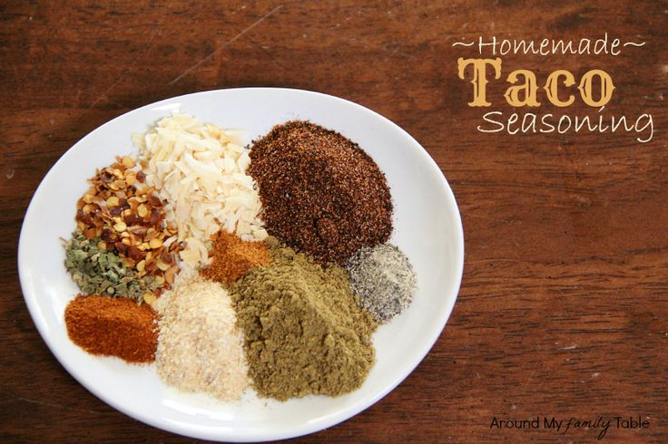 Homemade Taco Seasoning (only takes 5 minutes and without all the MSG and preservatives).  It's naturally gluten free too!