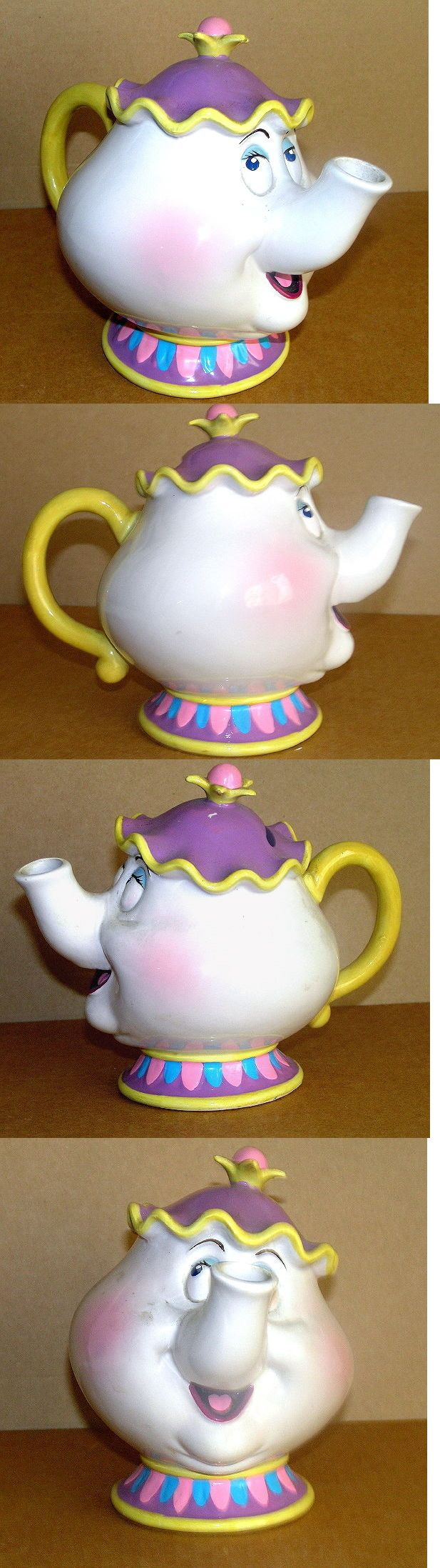 Beauty and the Beast 44033: Disney S Beauty And The Beast 1990 Mrs Potts China Teapot Coin Bank Rare Retired -> BUY IT NOW ONLY: $34.98 on eBay!