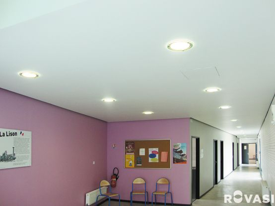 ECOLE MATERNELLE LA LISON. Saint Denis. France. DOWNLIGHTS + DECO. Recessed downlights with decorative glass. ROVASI BOOK 11-12.